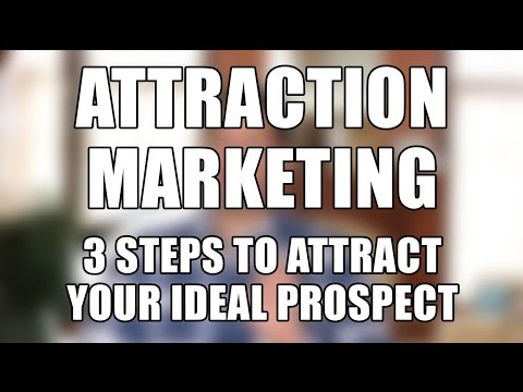 Attraction Marketing Tips – 3 Steps to Attract Your Ideal Prospect